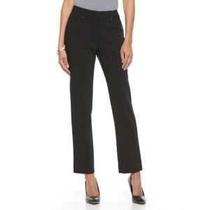 Women's Dana Buchman Straight-Leg Pull-On Pants